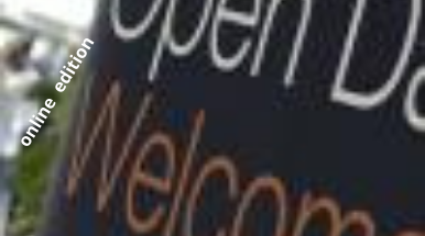 Scritta in inglese: Open Day Welcome online edition
